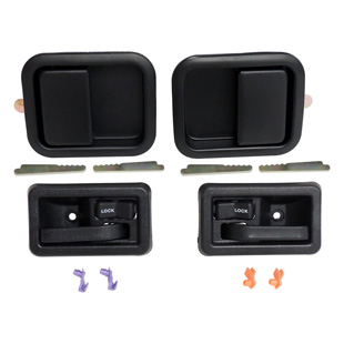 Full Door Handle Kit, Black, Interior, Exterior