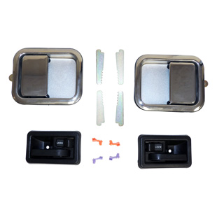 Full Door Handle Kit, Chrome, Interior, Exterior