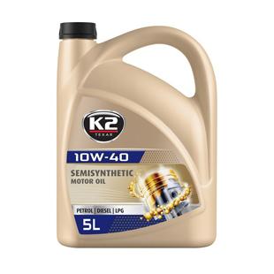 K2 TEXAR 10W40 BENZIN, Diésel / GLP es un tipo de aceite semisintético moderno, 5L