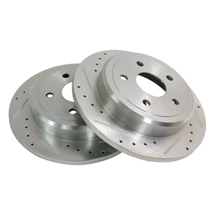 Drilled & Slotted Brake Rotor Set, Rear