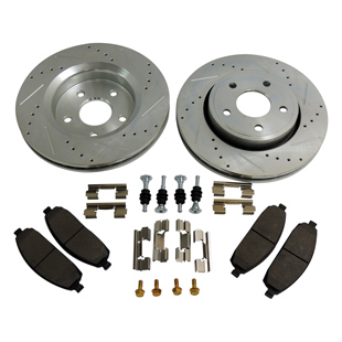 Complete Drilled & Slotted Brake Kit, Front