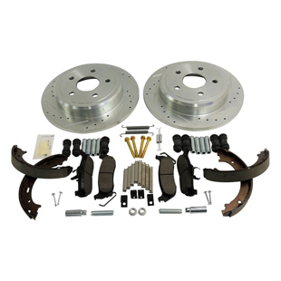 Complete Drilled & Slotted Brake Kit, Rear