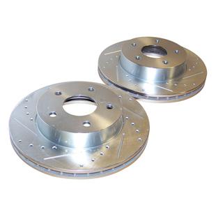 Kit de discos de freno perforados delanteros