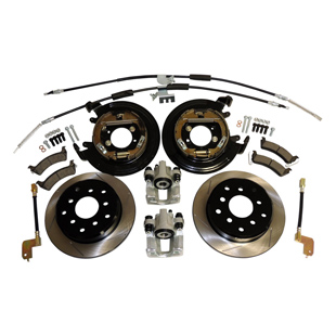 Drum to Disc Conversion Kit, Slotted Rotors
