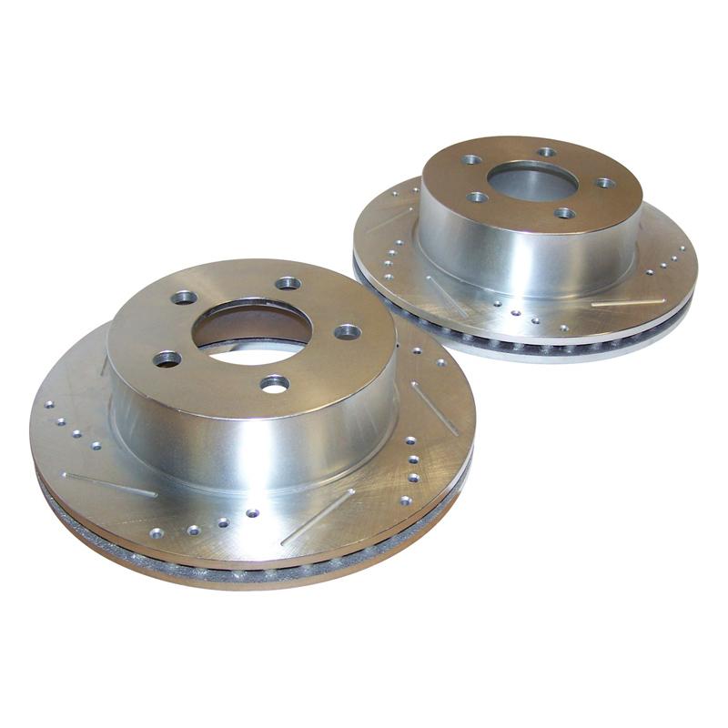 Kit the discos perforados delanteros