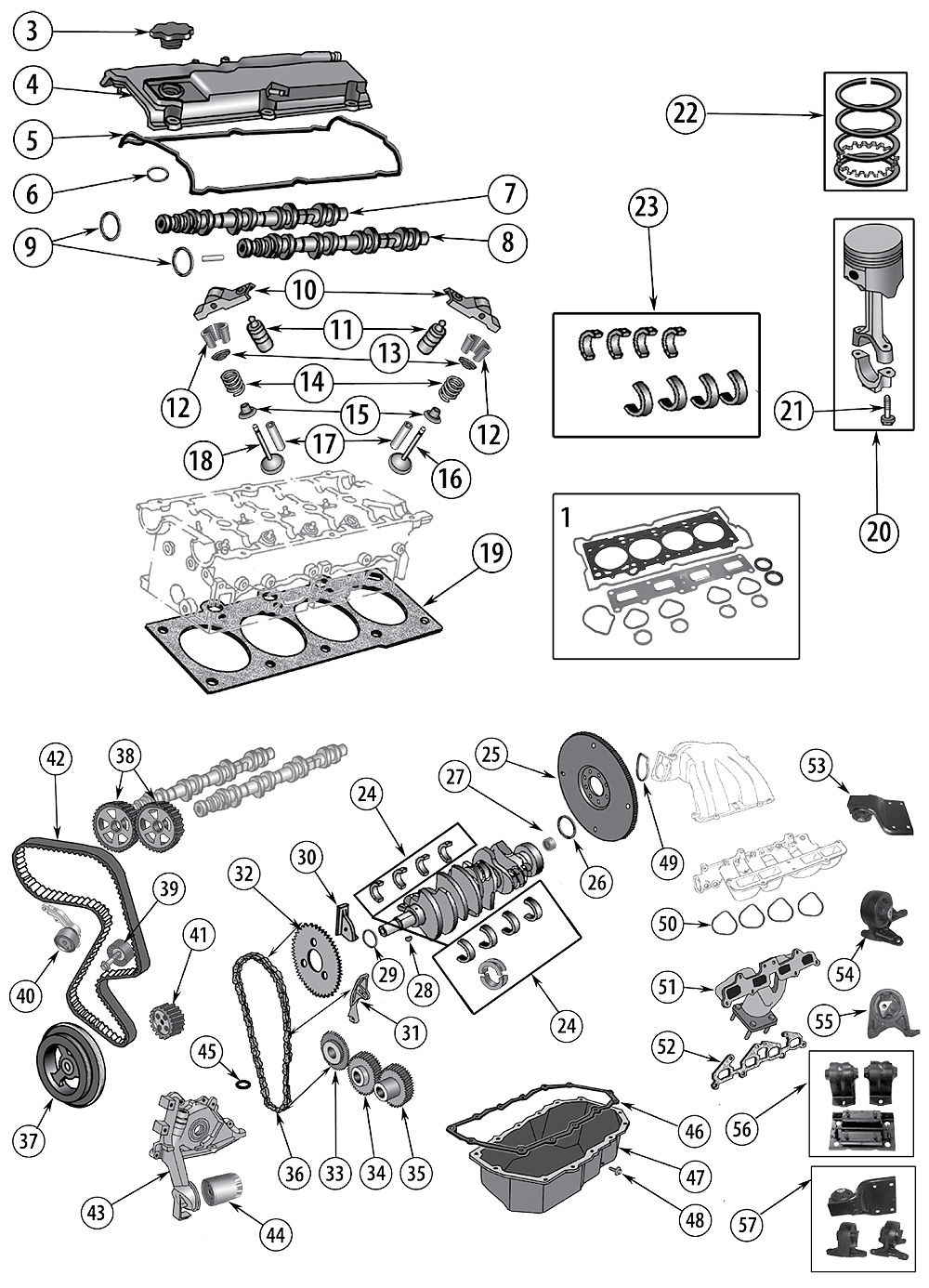 1996 Dodge Stratu 2 4 Dohc Engine Diagram