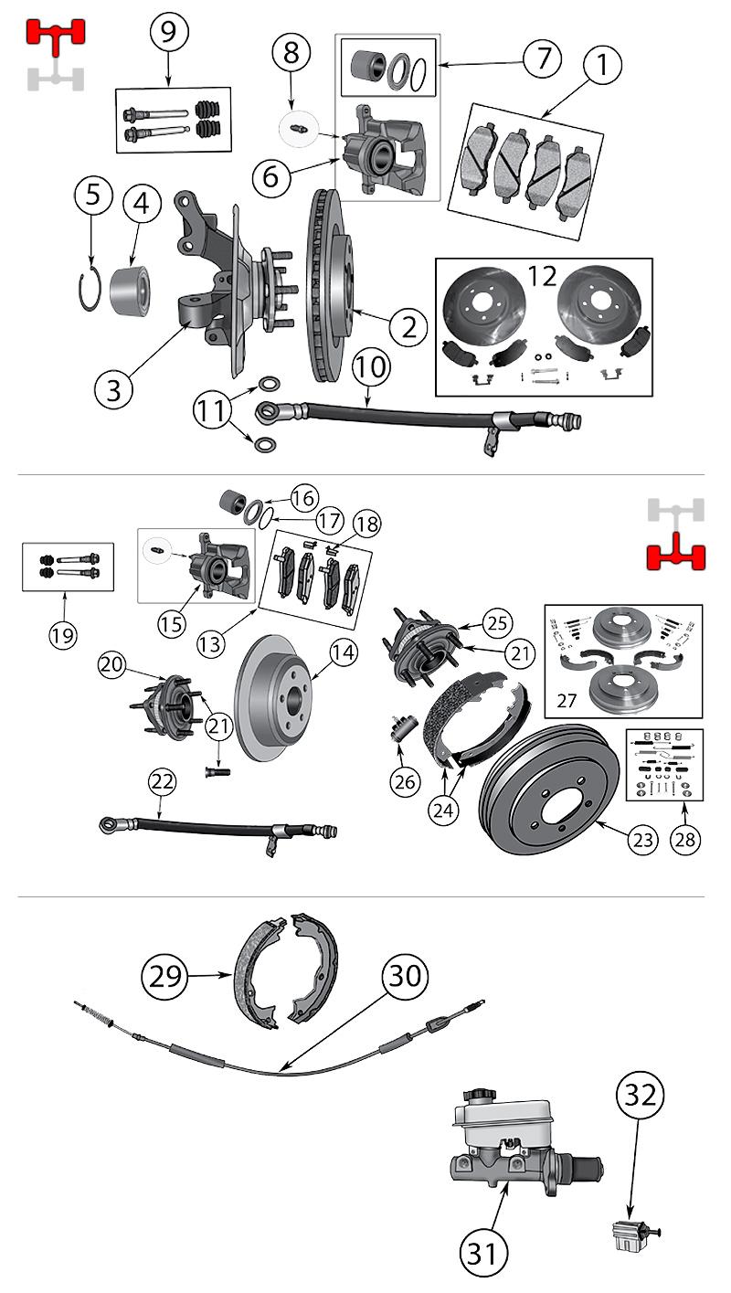 diagram brakes jeep mk compass    patriot 2007  2016