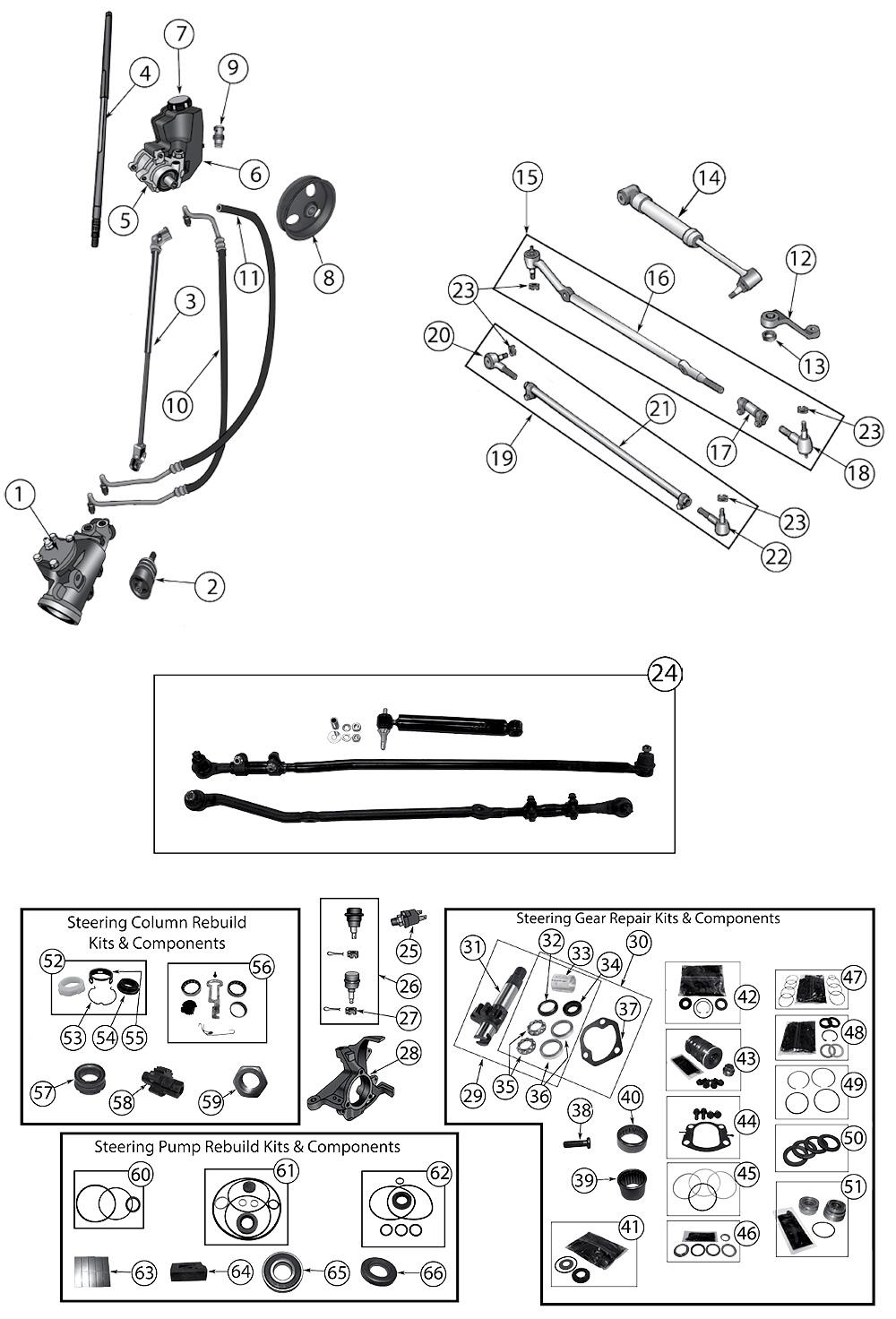 diagram steering jeep xj cherokee 1984  2001