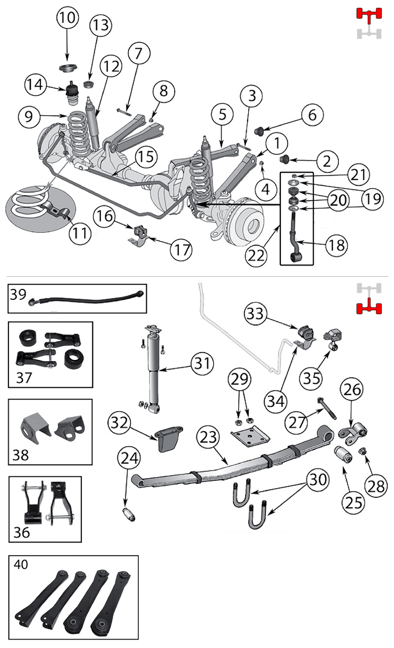 Diagram Suspension Jeep Xj Cherokee 1984  2001