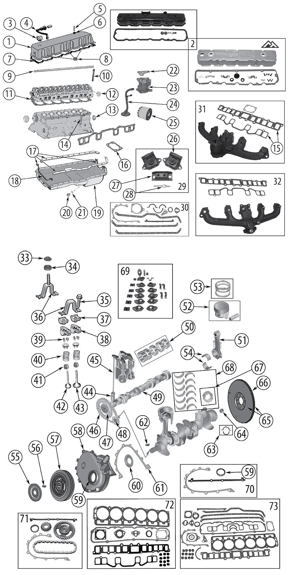 diagram 3 8l  s6-232   u0026 4 2l  s6-258  jeep cj-7 1976  1986