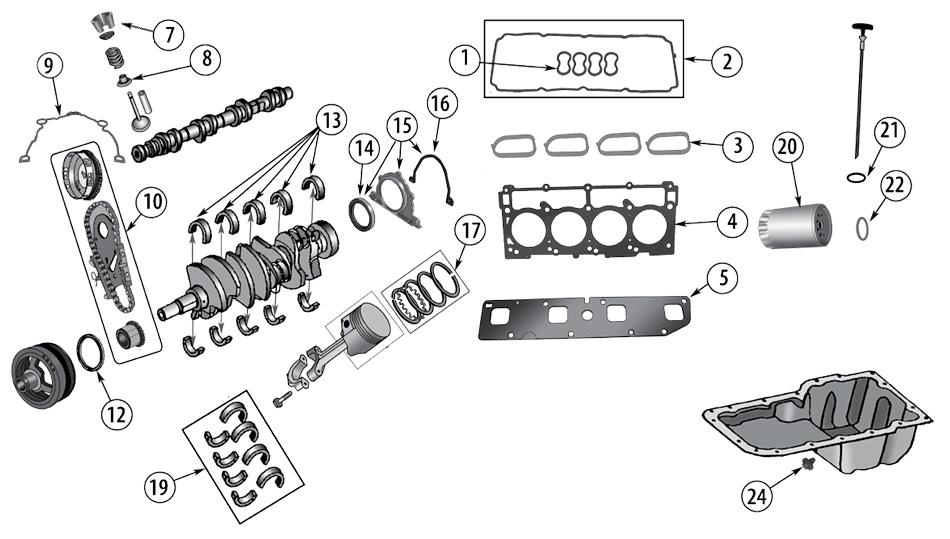 Diagram 6 1 Liter Engine Hemi Jeep Wk Wh Grand Cherokee 2005 2010 Fortec Gmbh