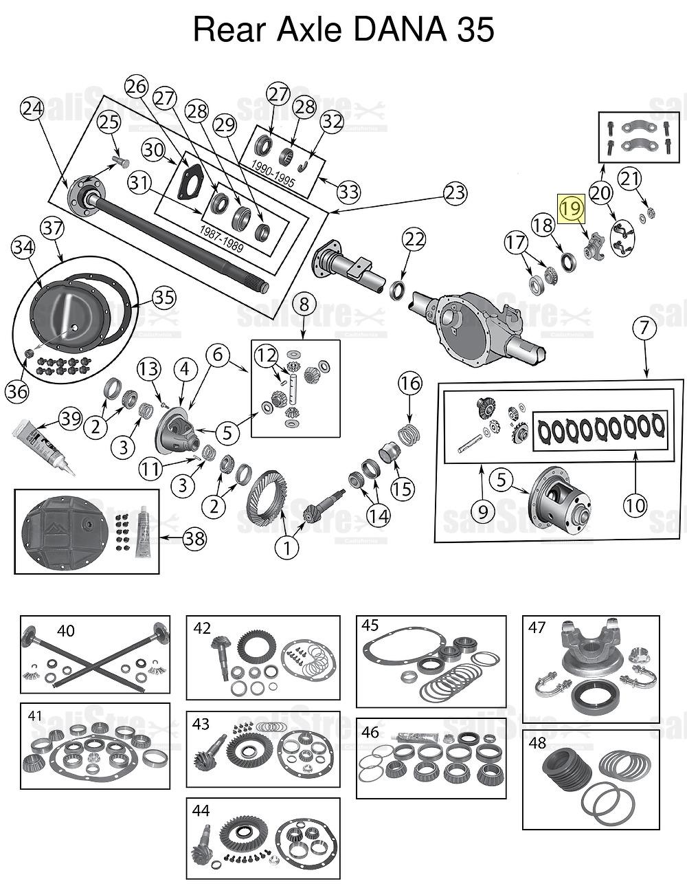 Ingresso o uscita Yoke Jeep Wrangler YJ 1993/1995 (2.5 L 4 ...