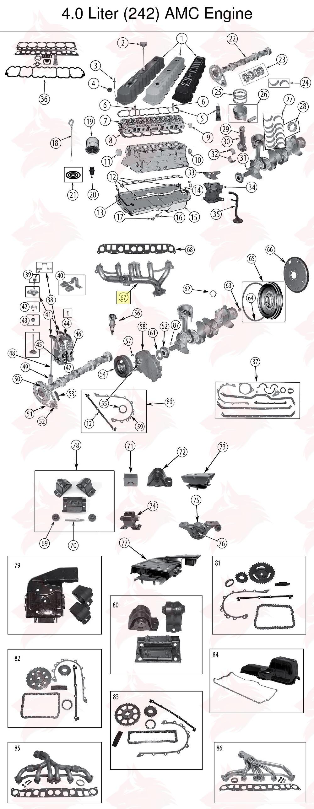 Auspuffkr U00fcmmer Jeep Wrangler Yj 1991  1995  4 0 L