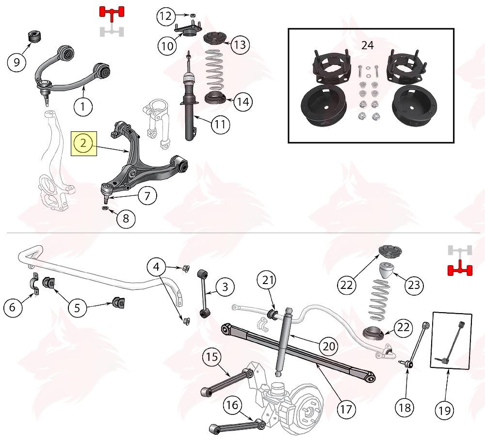 article pour model 5290634aa triangle suspension avant inf u00e9rieur