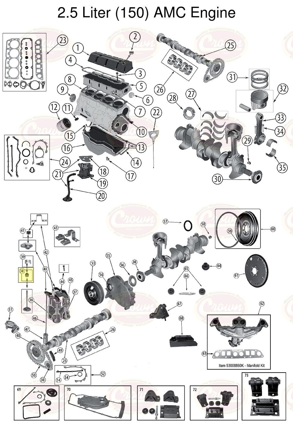 Ventilschaftdichtung Jeep Wrangler Yj 1987  1995  2 5 L 4 0