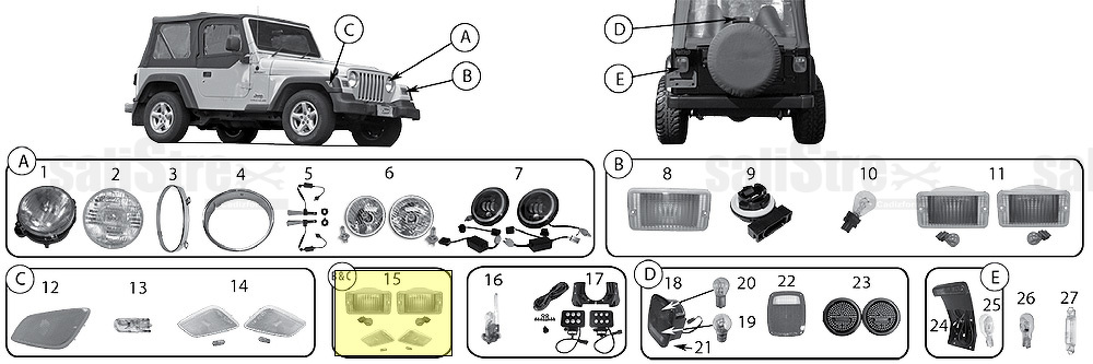 Clear Lamp Kit Jeep Wrangler Tj 1997  2006